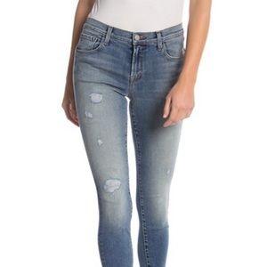 J Brand Skinny Jeans 835 Mid Rise Crop Distressed